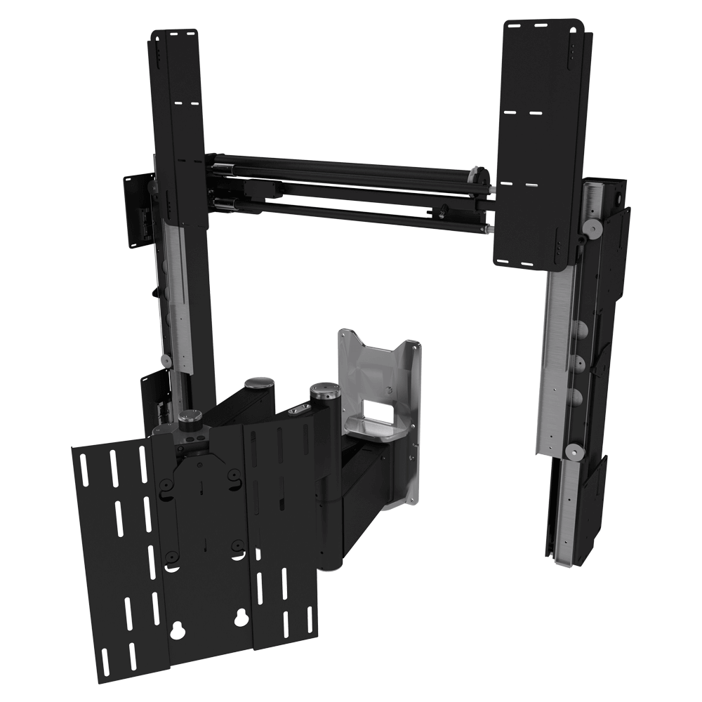 SPS-QA - Sliding Panel System with Motorised Two Way TV Wall Mount